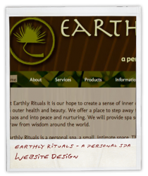 Website Design Thumb - Earthly Rituals